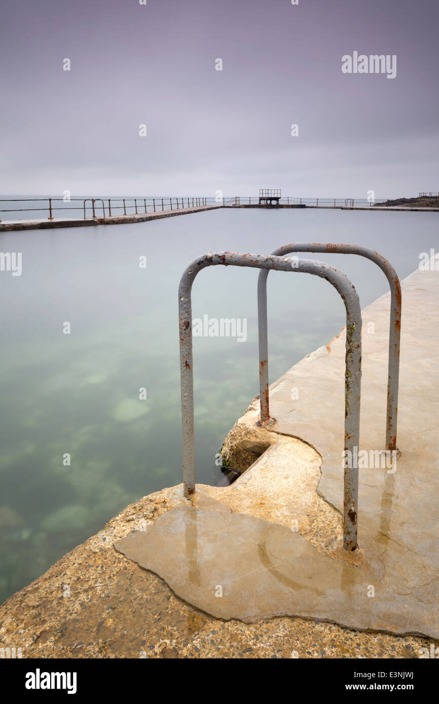 La Vallette open air bathing pools, St Peter Port, Guernsey - Stock Image