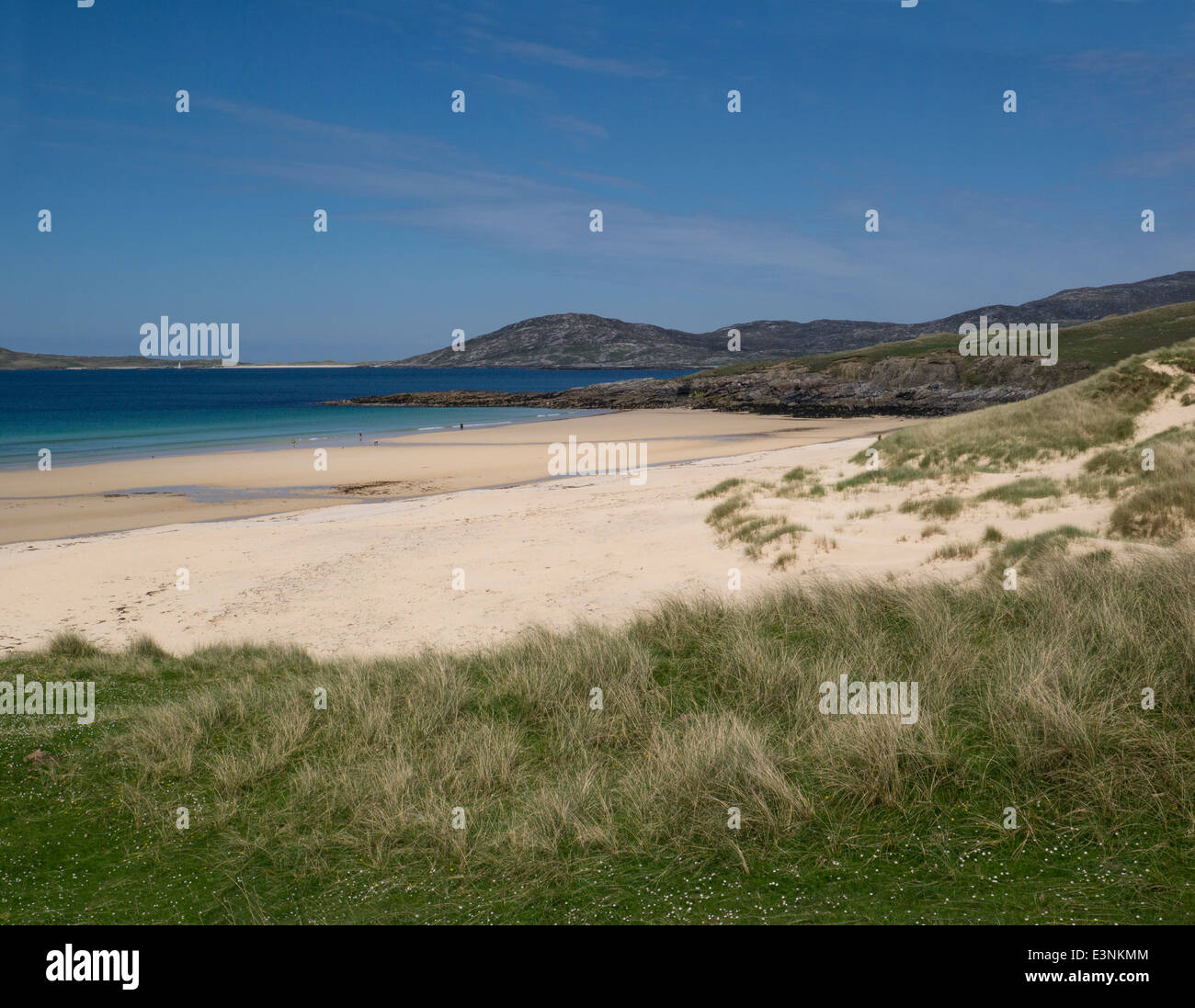 White sands of Traigh Lar beach South Harris Outer Hebrides Western Isles - Stock Image