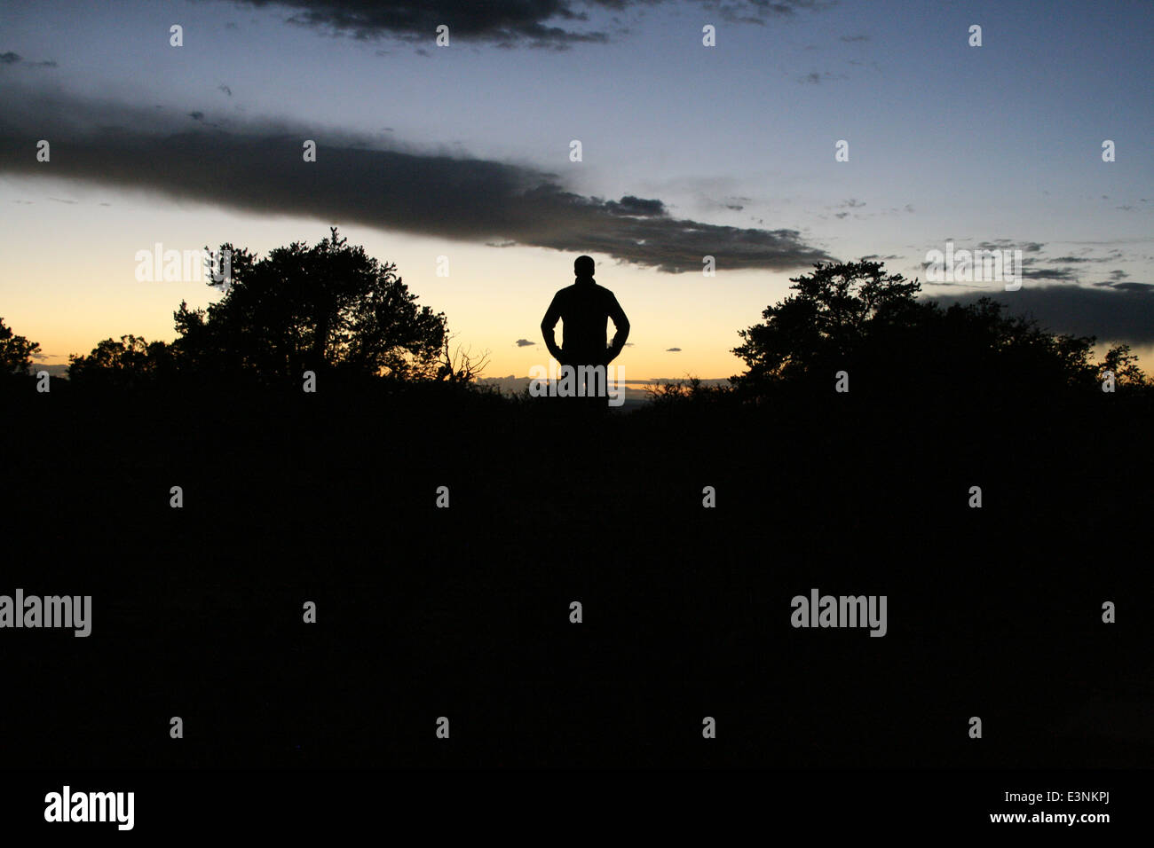 Silhouette Sonnenuntergang - Stock Image