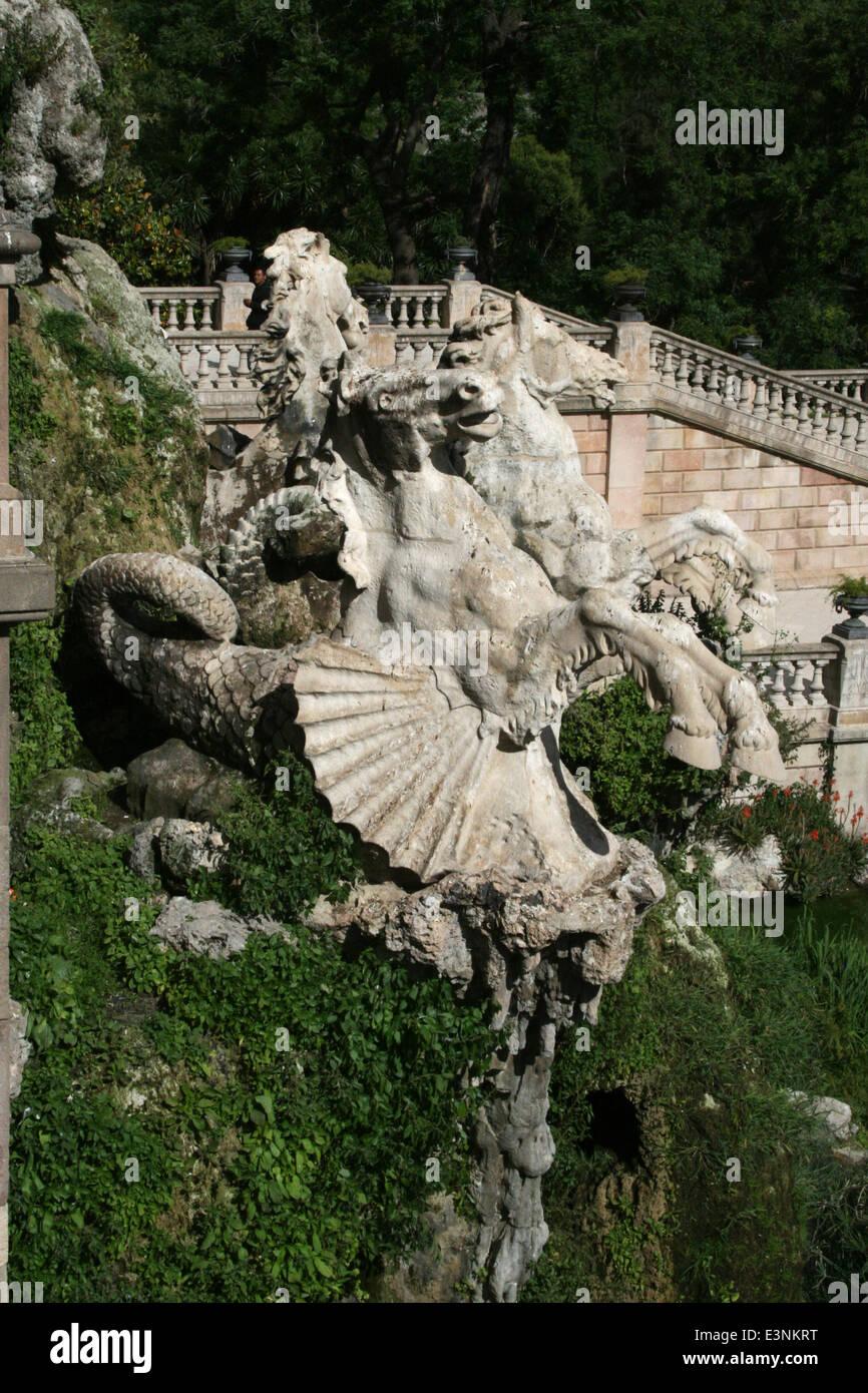 Skulpturen Font de la Cascada - Stock Image