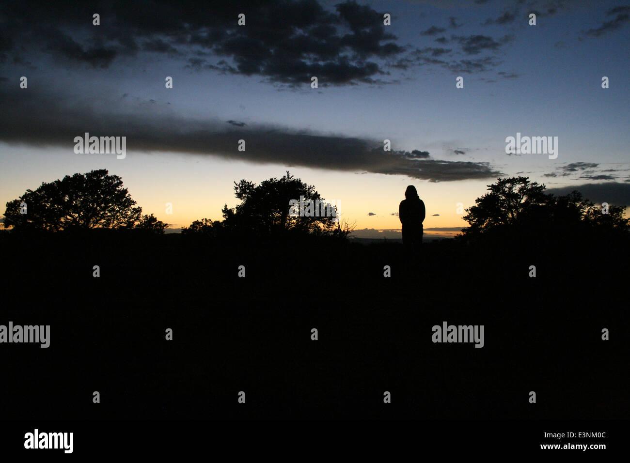 Silhouette Frau - Stock Image