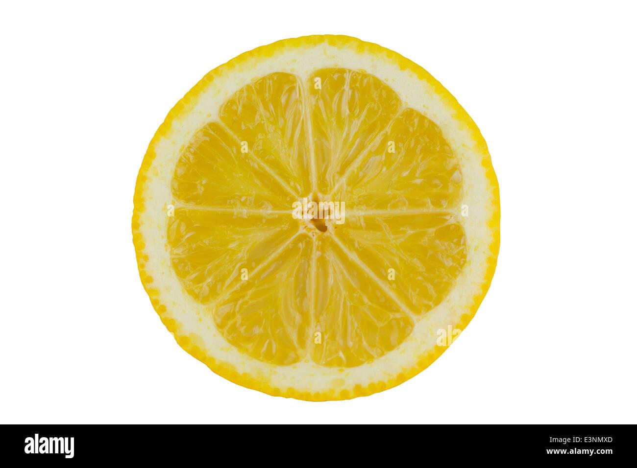 Zitrone freigestellt Stock Photo