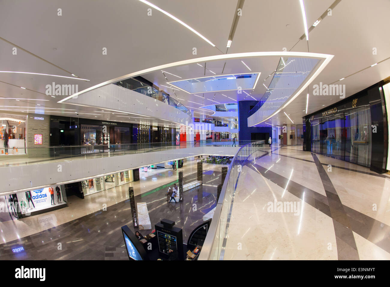 Kuwait City, Al Hamra Tower, includes a luxury business and shopping center completed in 2011 - Stock Image
