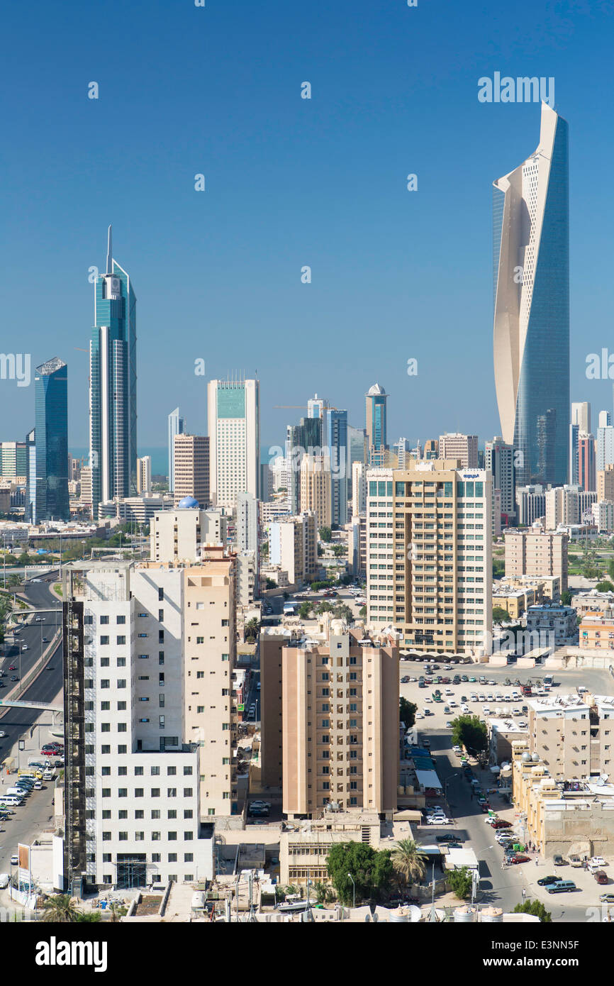 Kuwait City, the Al Hamra building, tallest in Kuwait completed in 2011 - Stock Image