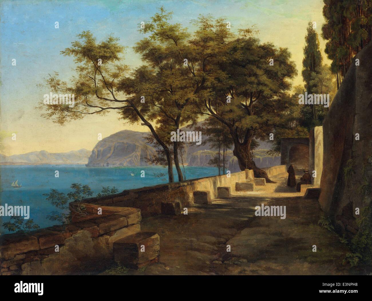 Heinrich Reinhold - Terrace of the Capuchin Garden, Sorrento - 1824 - Stock Image