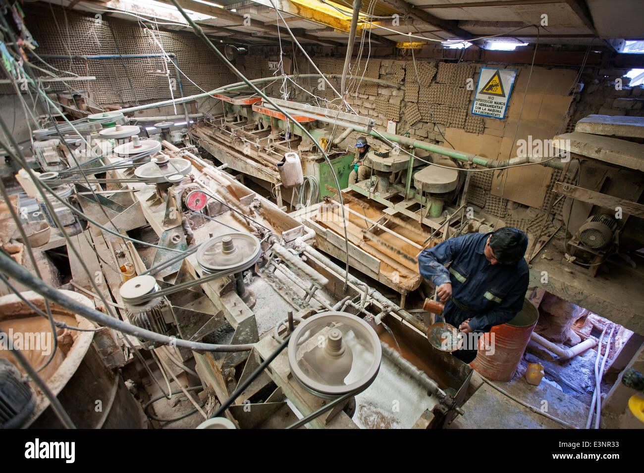 Silver processing plant. Cerro Rico mine. Potosi. Bolivia - Stock Image