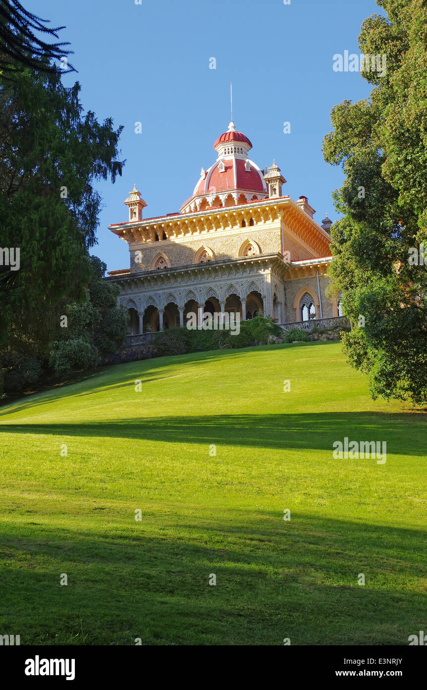 Palace of Monserrate Park in Sintra, Portugal - Stock Image