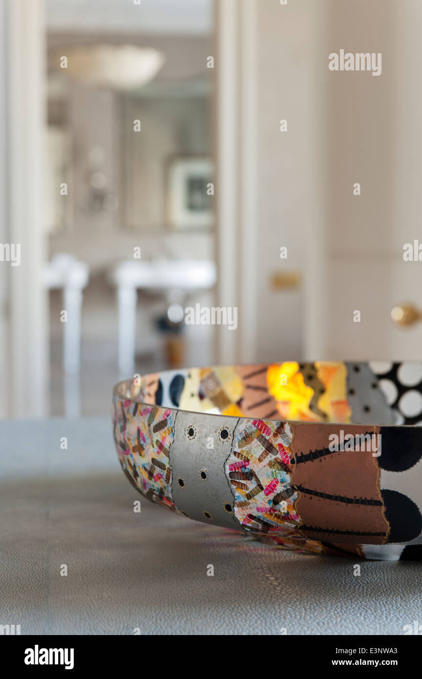 Patterned segmented bowl - Stock Image