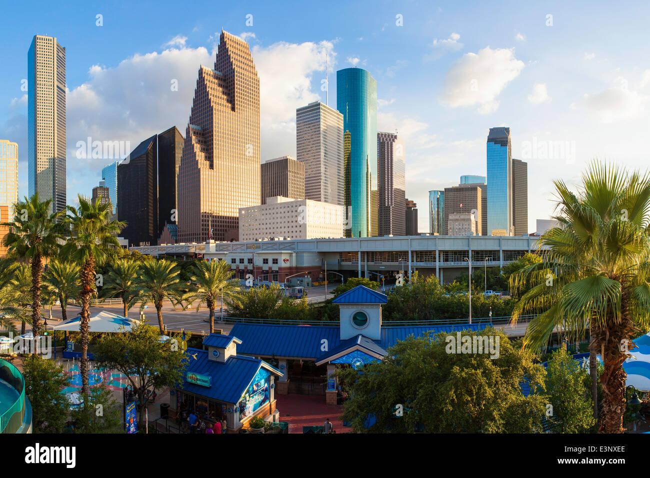City skyline, Houston, Texas, United States of America - Stock Image