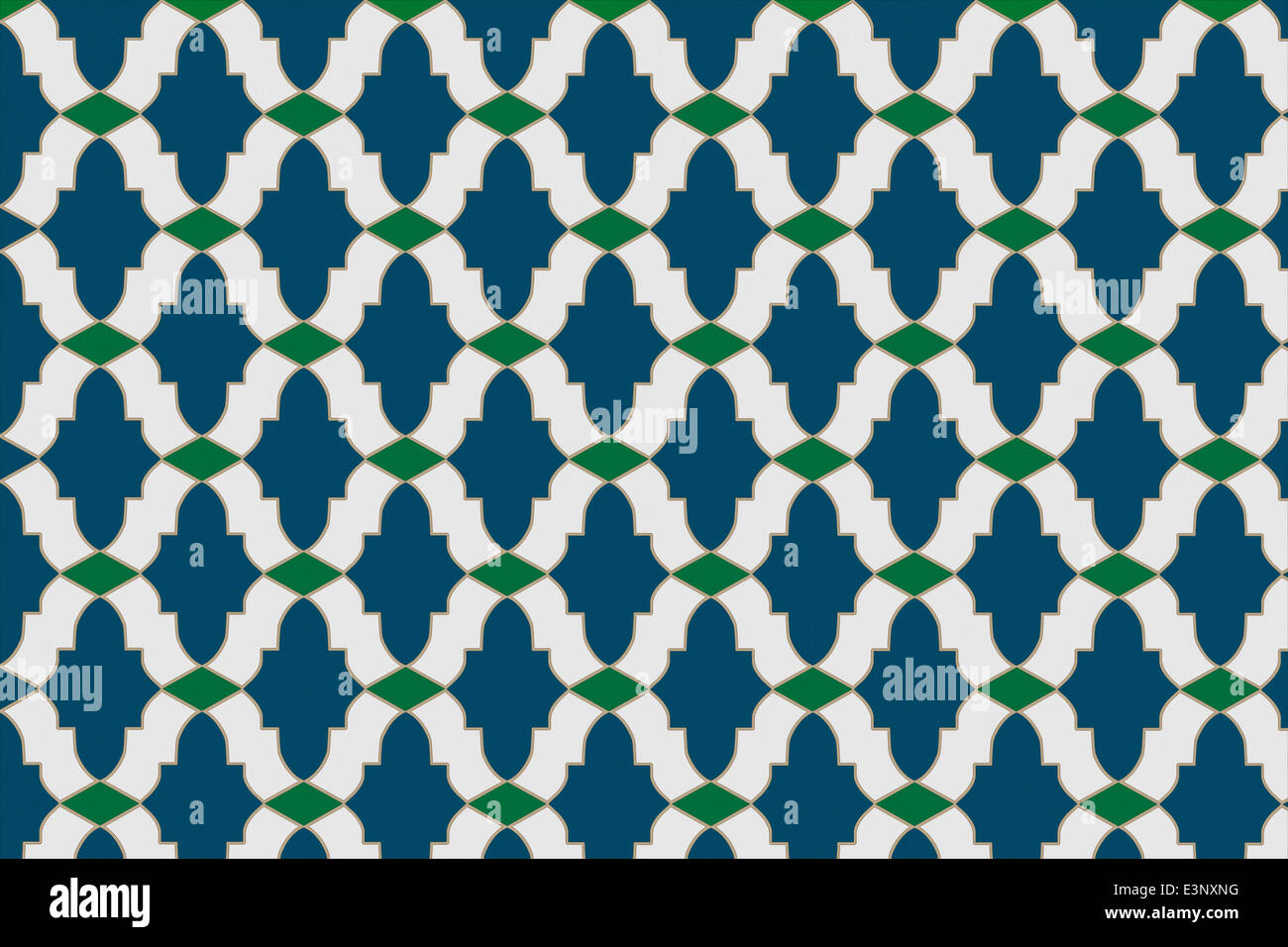 Area of mosaic tiles with three basic tile shapes to create a ...