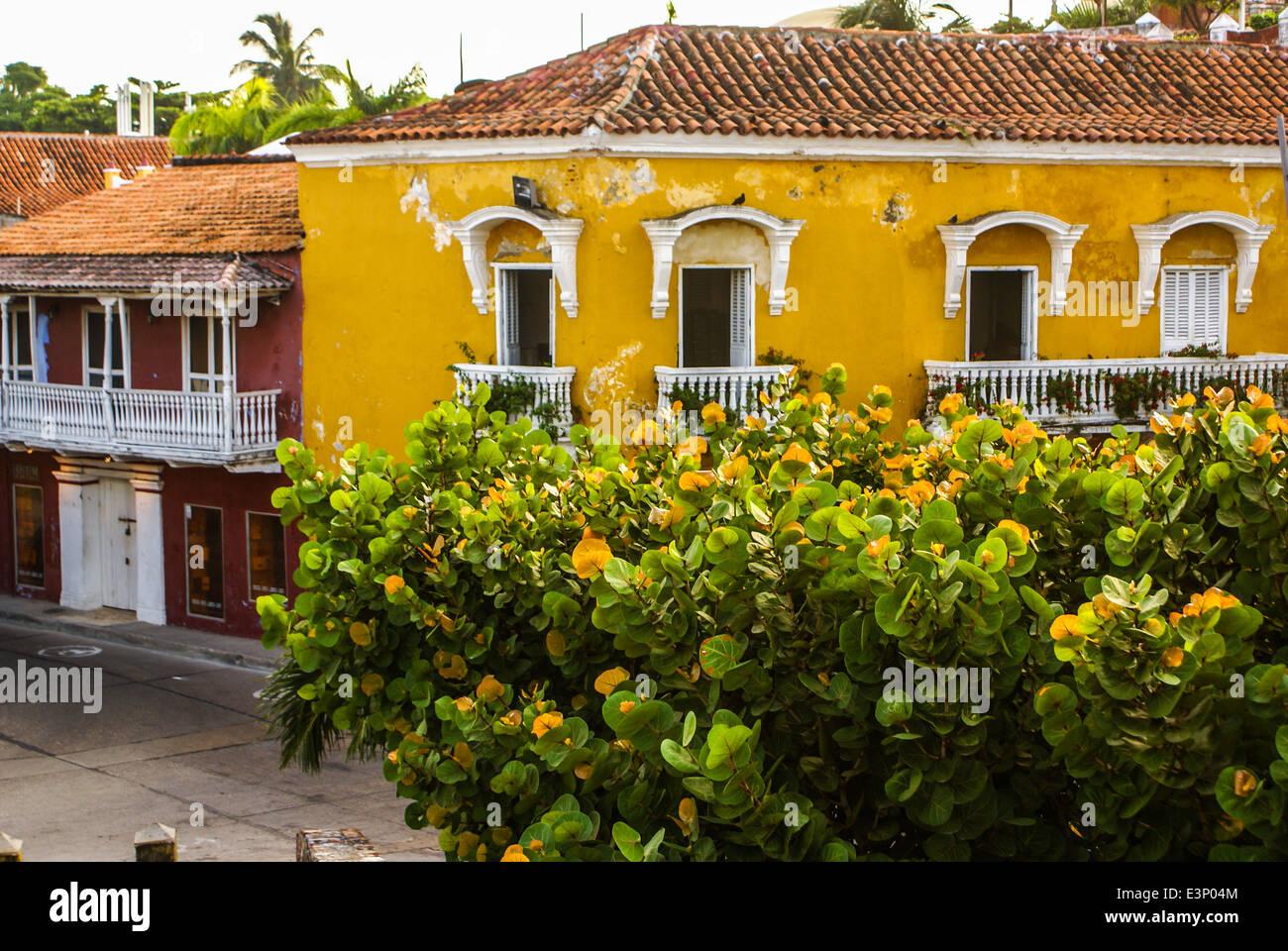 Spanish Colonial House Cartagena De Indias Colombias Caribbean Zone