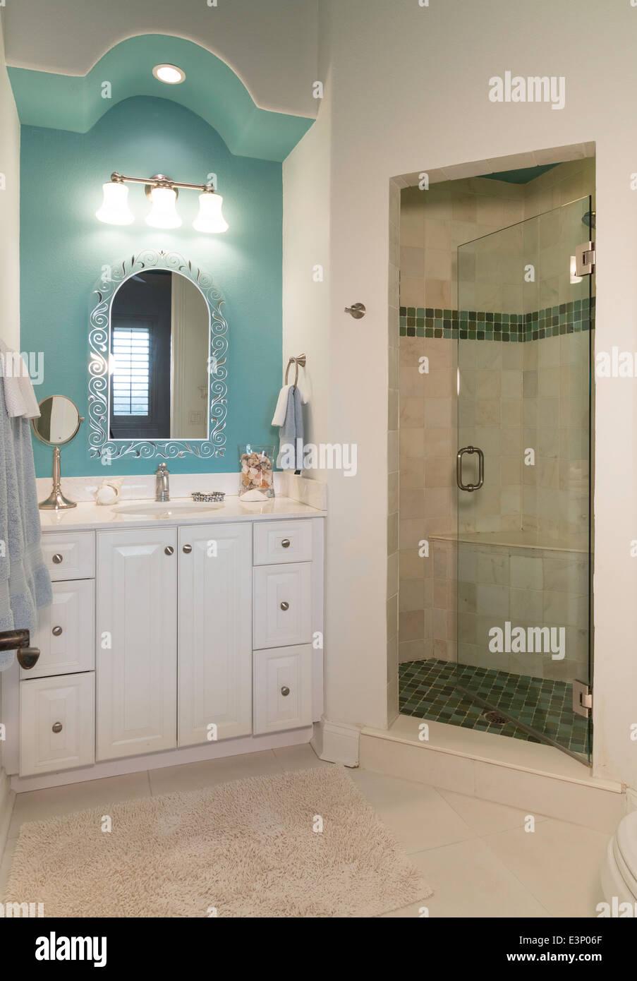 Residential bathroom interior - Stock Image