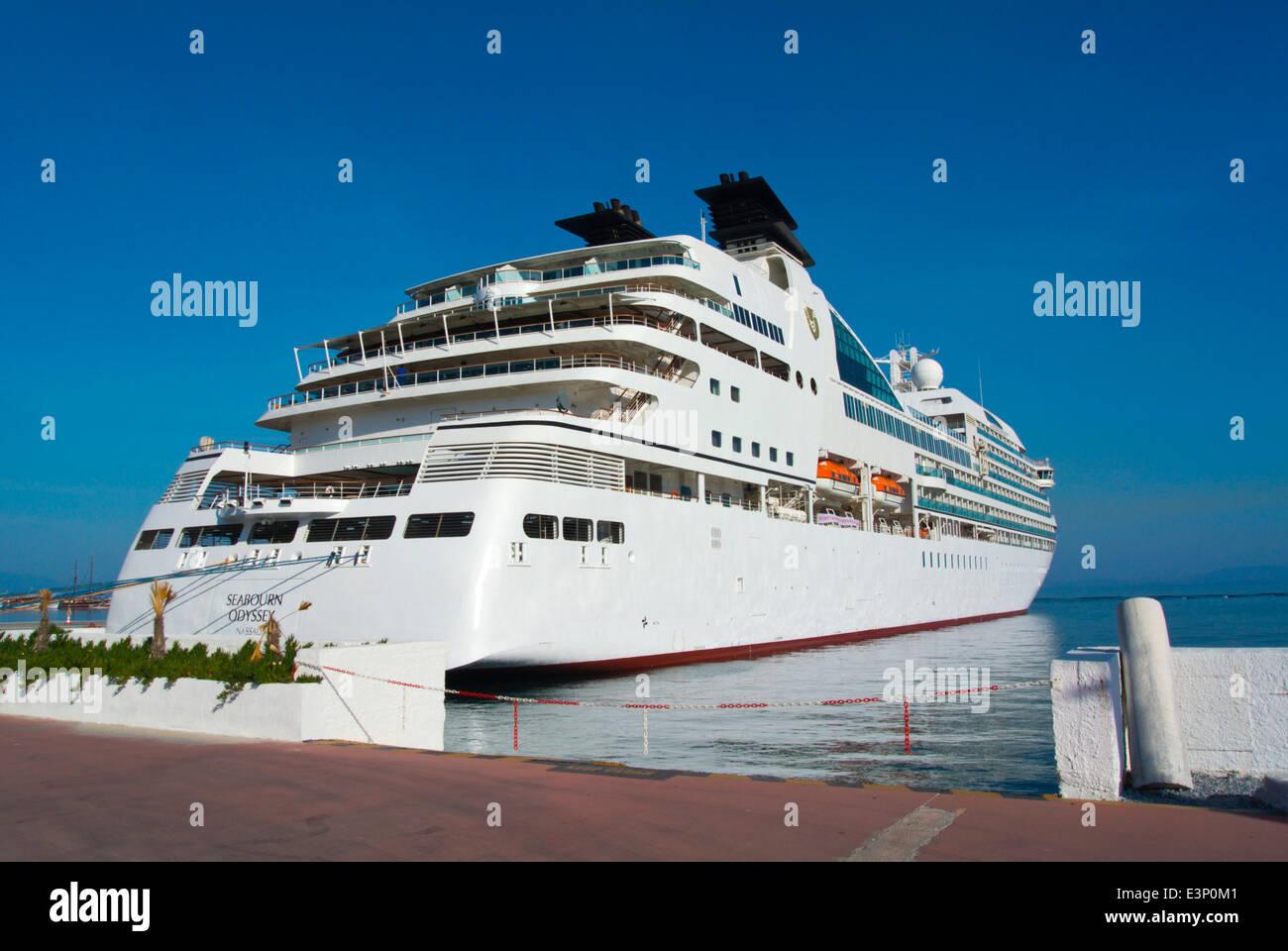 Cruise liner, Port, Kusadasi, Turkey, Asia Minor - Stock Image