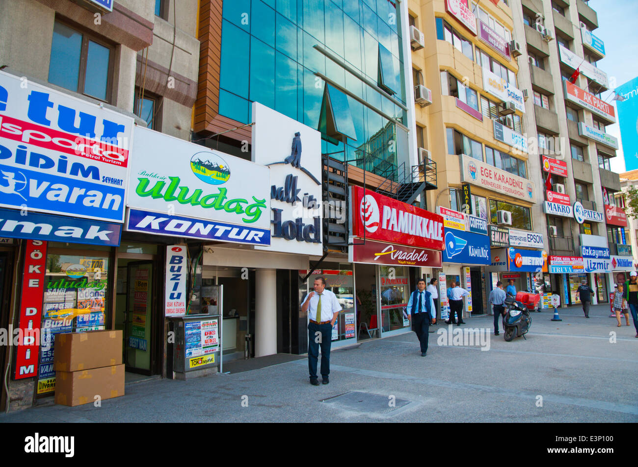 9 Eulül Myd square where many bus companies have offices, central Izmir, Turkey, Asia Minor - Stock Image