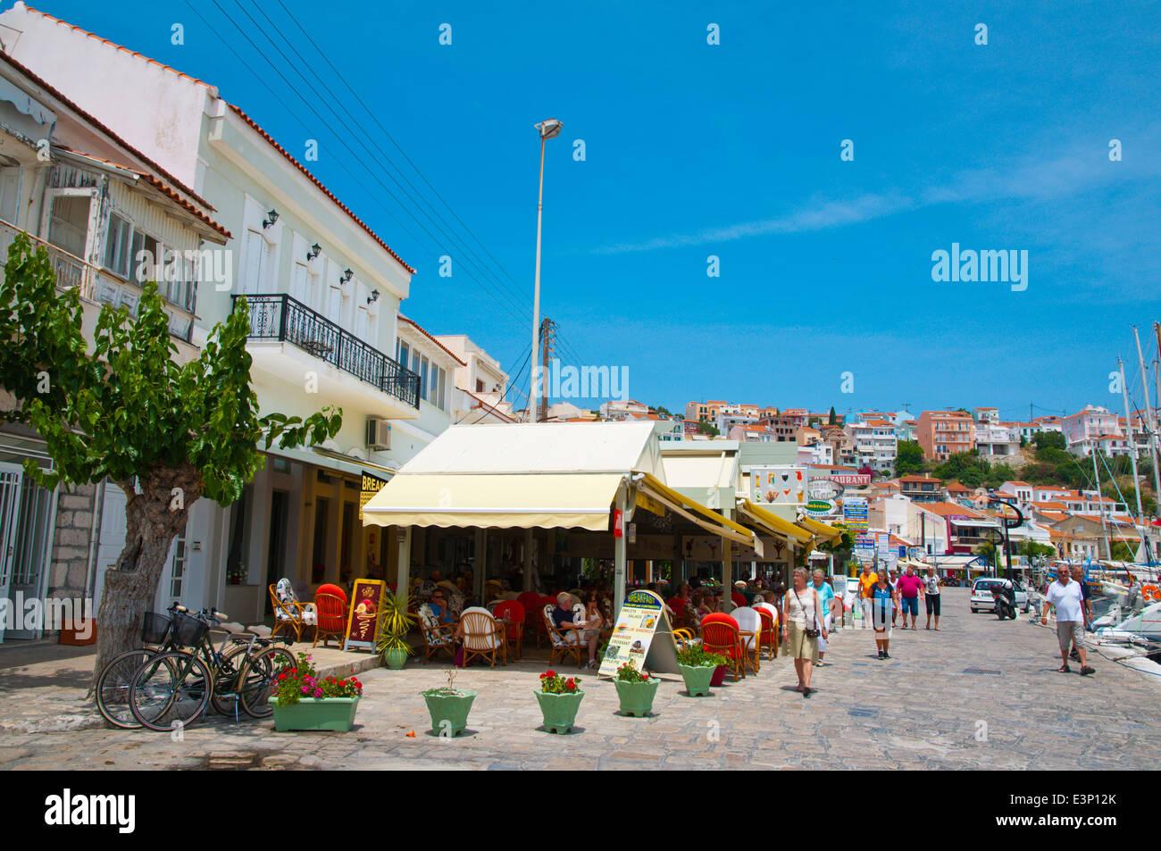 Seaside promenade, Pythagoreio, Samos, Aegean Sea, Greece, Europe Stock Photo