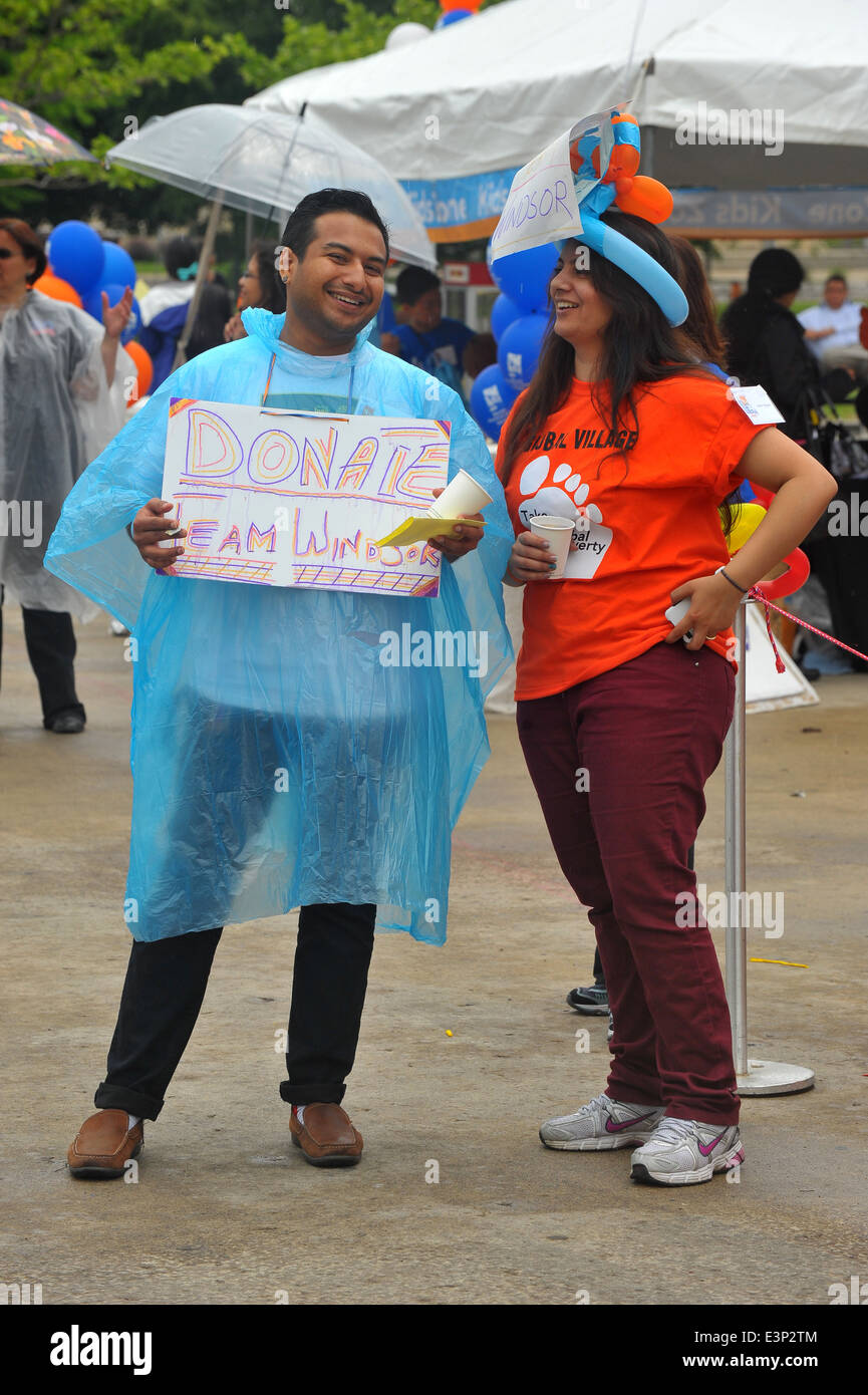 Images from the World Partnership charity walk in London, Ontario. - Stock Image