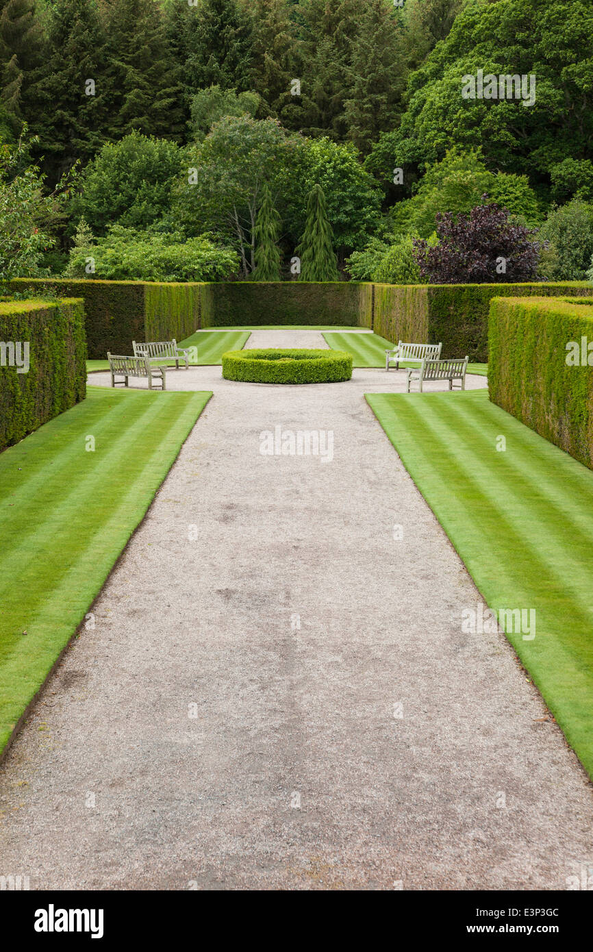 The entrance to Rosemore Gardens - Stock Image