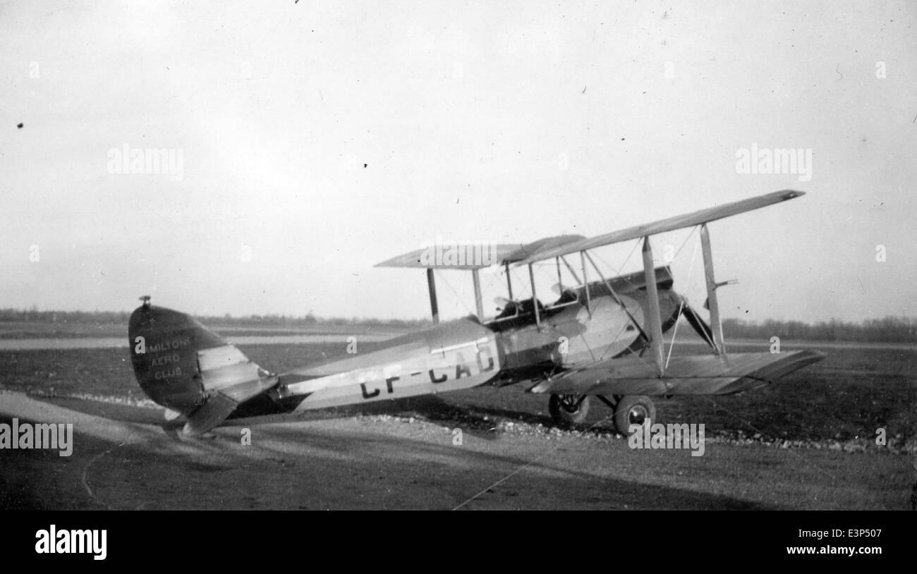 AL61A-407 de Havilland DH.60M Moth cn 732 CF-CAD Hamilton Aero Club c32 - Stock Image