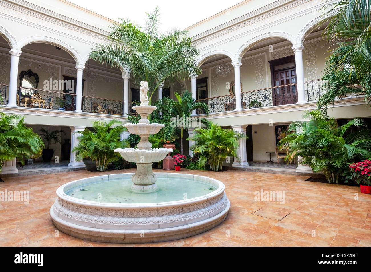 Historic house in downtown Merida, Yucatan, Mexico. - Stock Image