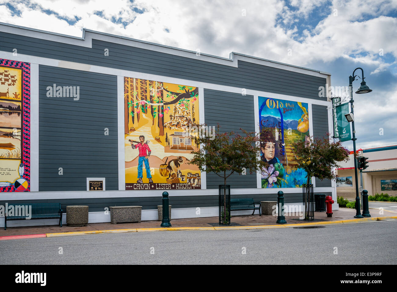 Murals, Creston, British Columbia, Canada - Stock Image