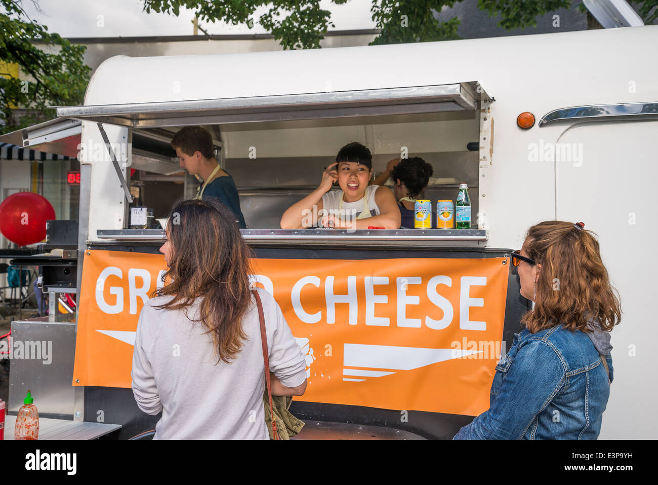 Grilled Cheese Street Vendor, Food Cart, Vancouver, British Columbia, Canada - Stock Image