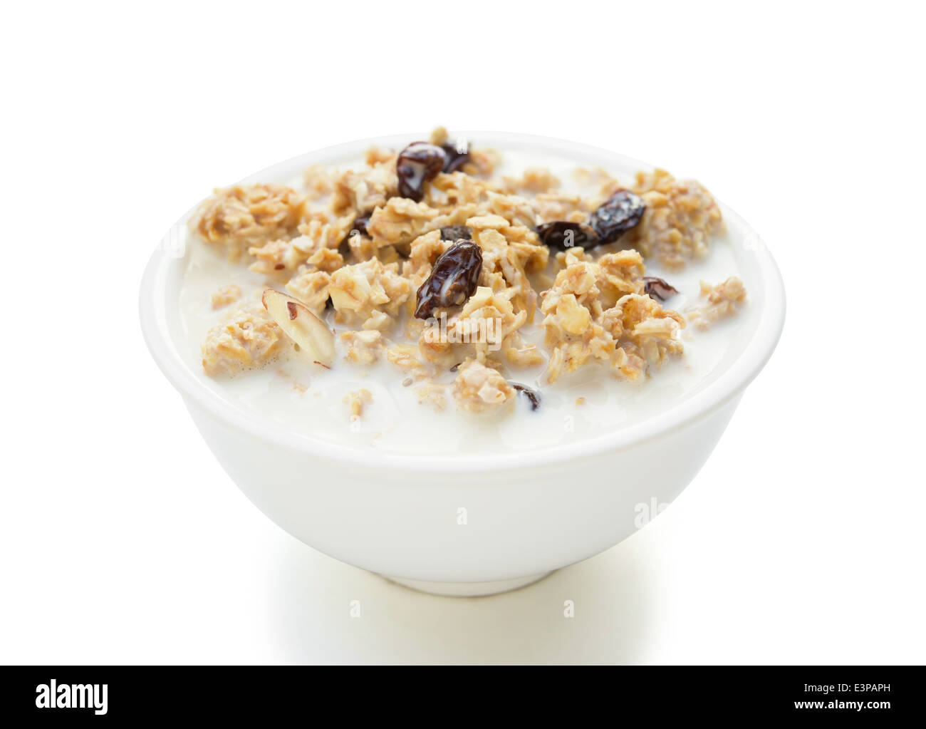 delicious and healthy wholegrain muesli with clipping path Stock Photo