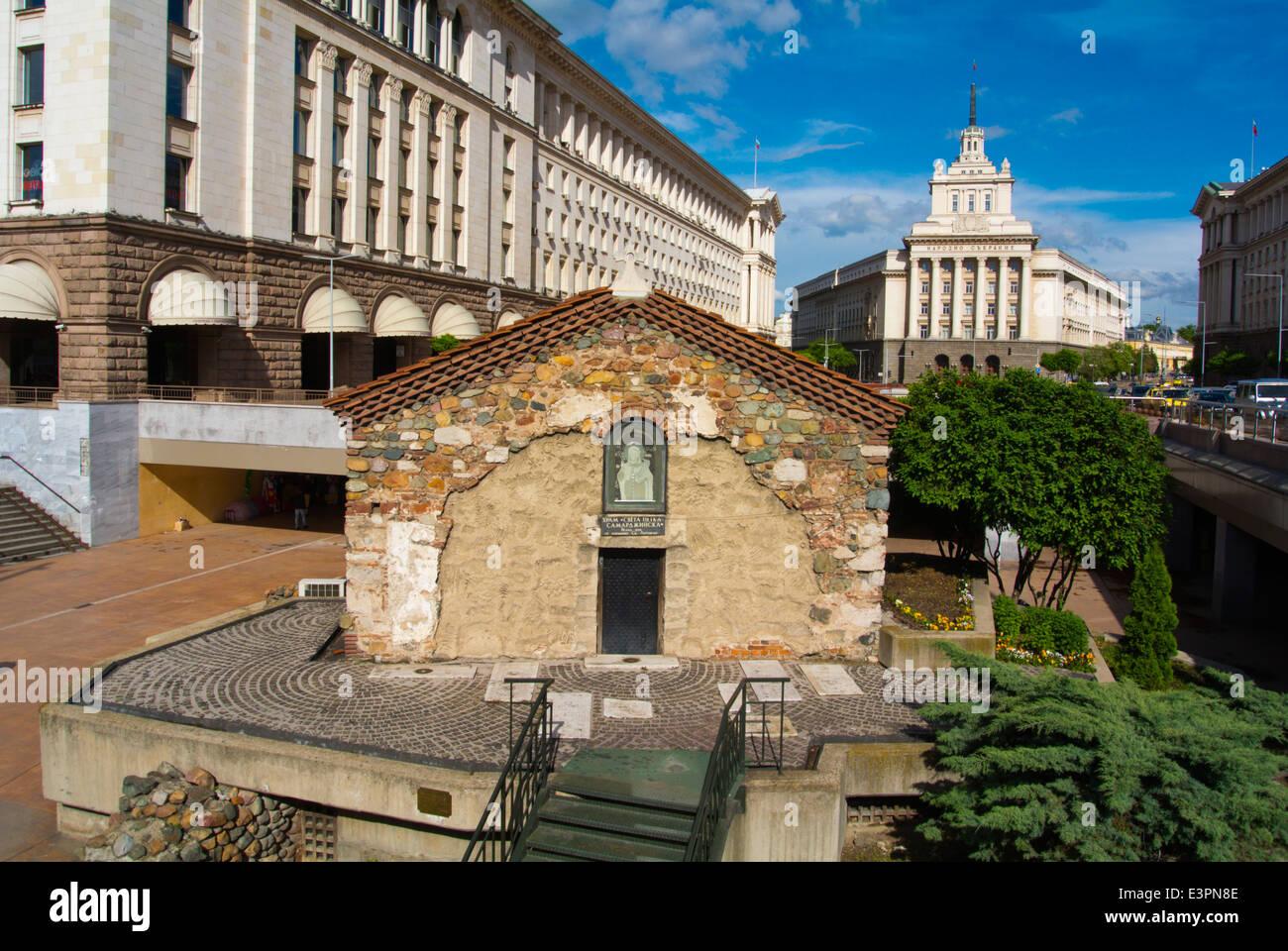 Sveta Petka Samardjinska Church, 14th century, Ploshad Sveta Nedelya square, central Sofia, Bulgaria, Europe Stock Photo