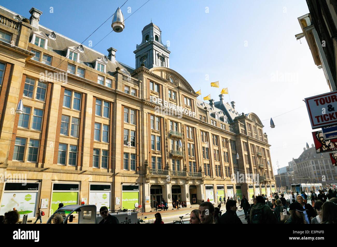 De Bijenkorf department store, Damrak, Amsterdam, Netherlands - Stock Image
