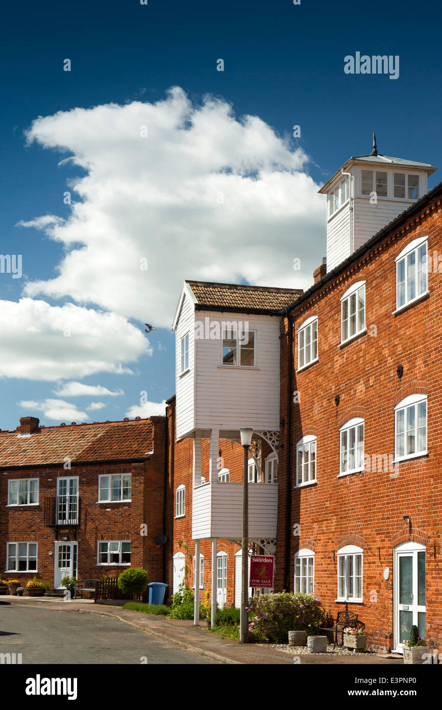 UK England, Suffolk, Lavenham, Roper's Court, apartments in former industrial building - Stock Image