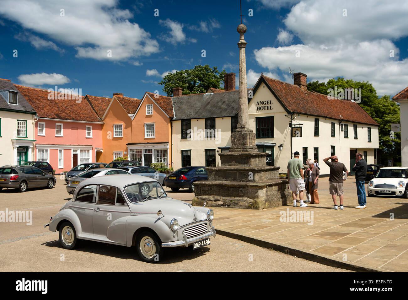 UK England, Suffolk, Lavenham, Market Square, Marco Pierre White's Angel Hotel - Stock Image