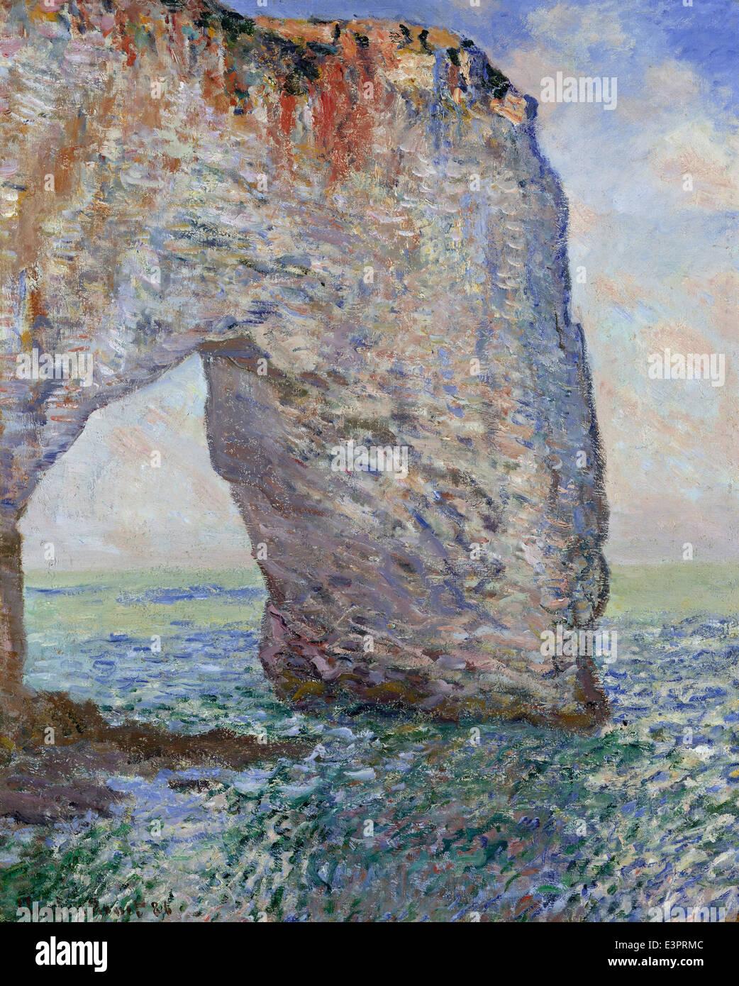 Claude Monet - The Manneporte near Étretat - 1886 - MET Museum - New-York - Stock Image