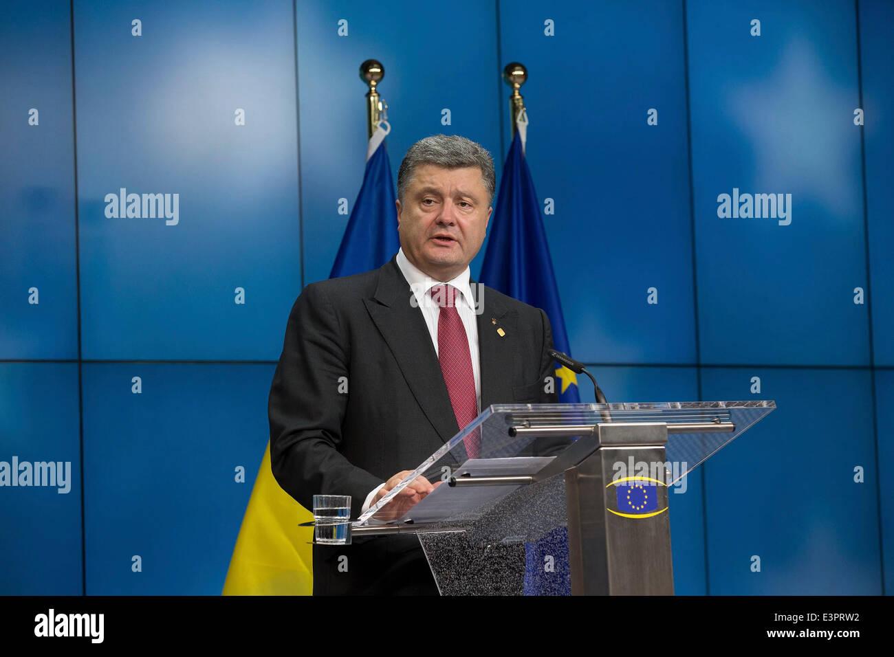 ukrainian President Petro petr Poroshenko Ukraine - Stock Image