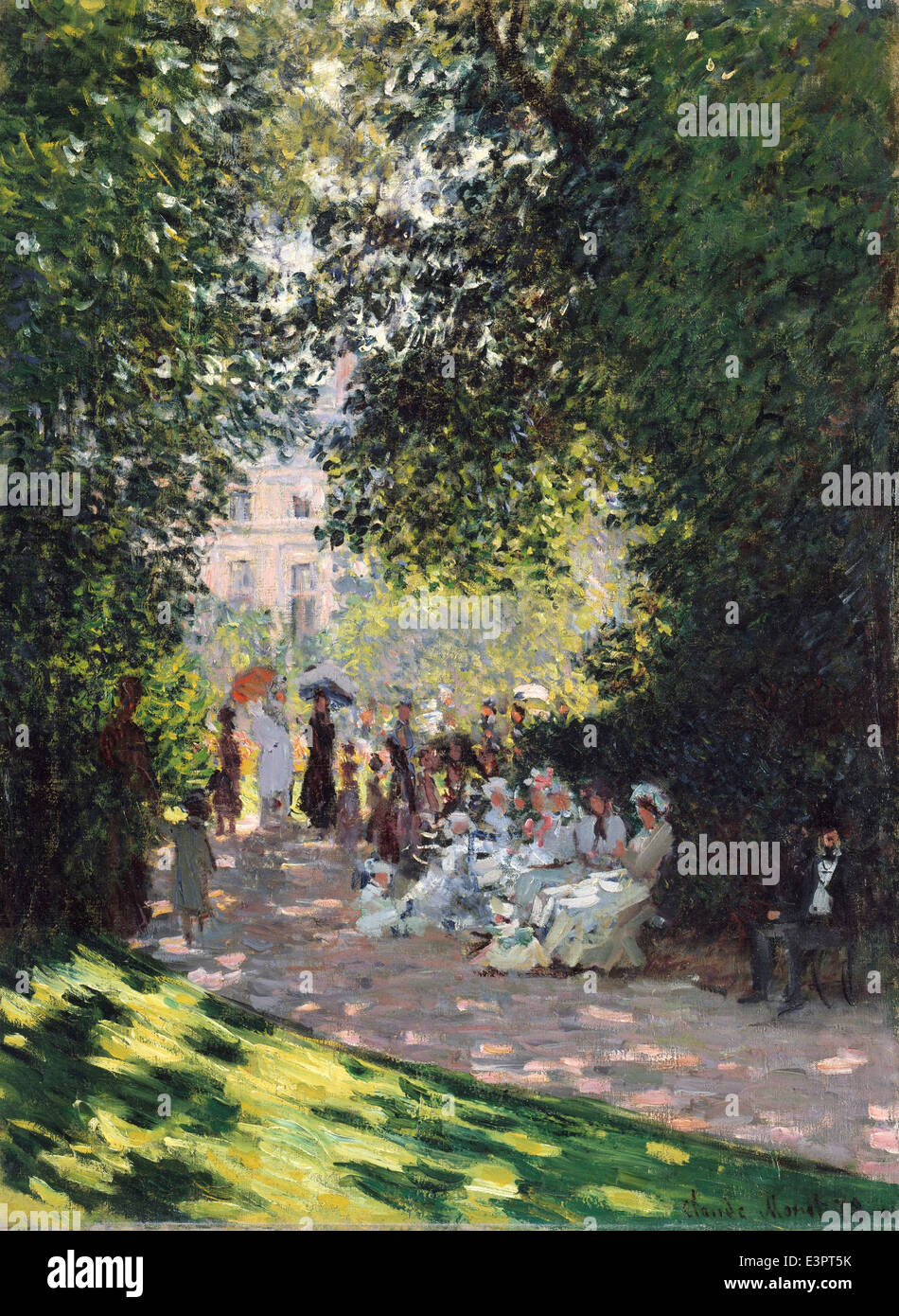 Claude Monet - The Parc Monceau - 1878 - MET Museum - New-York - Stock Image