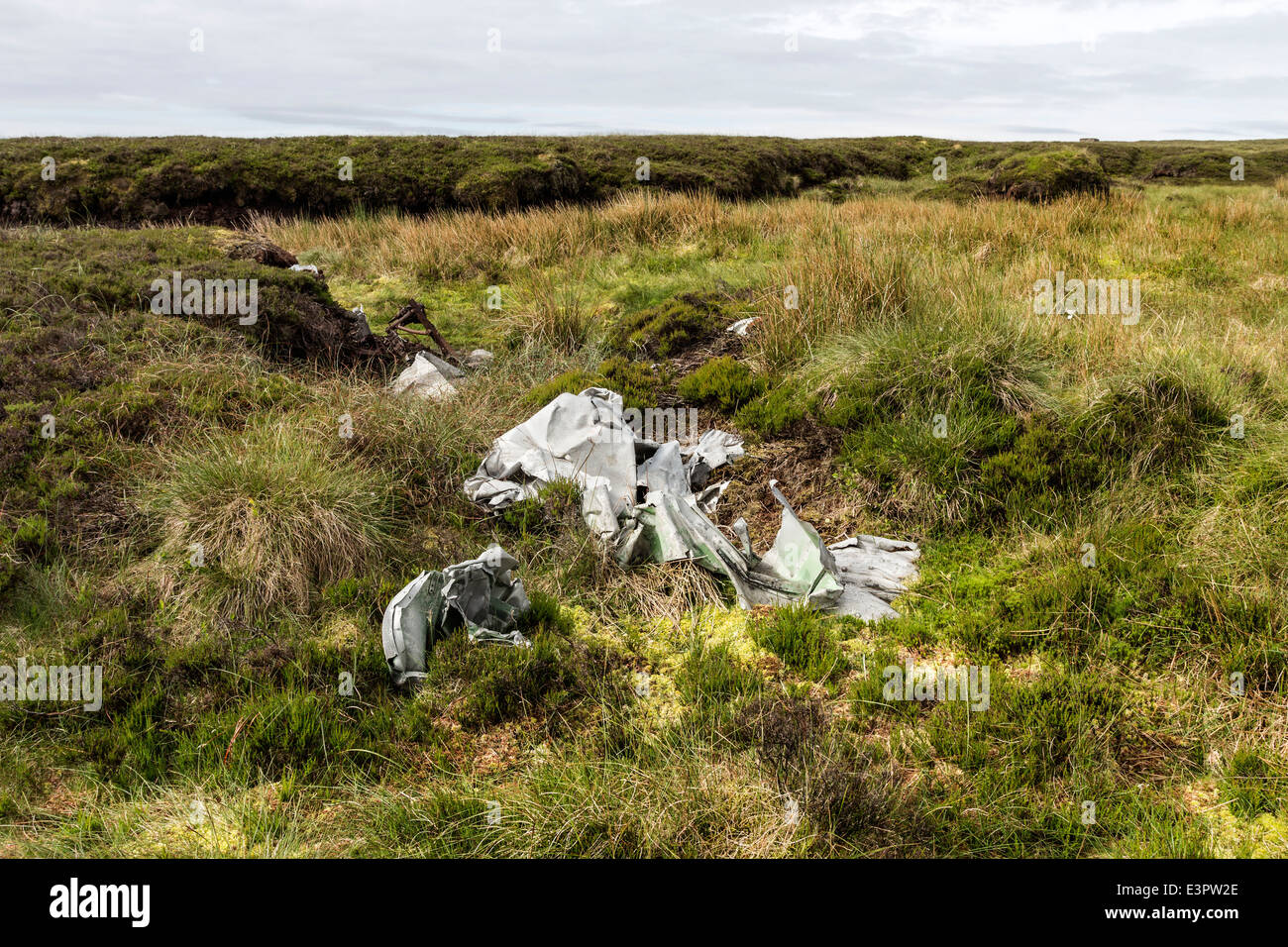 Crash Site of a Blenheim Mk1, L1252 Aircraft Which Crashed in Bad Weather on 26th October 1938, Lunedale, County - Stock Image