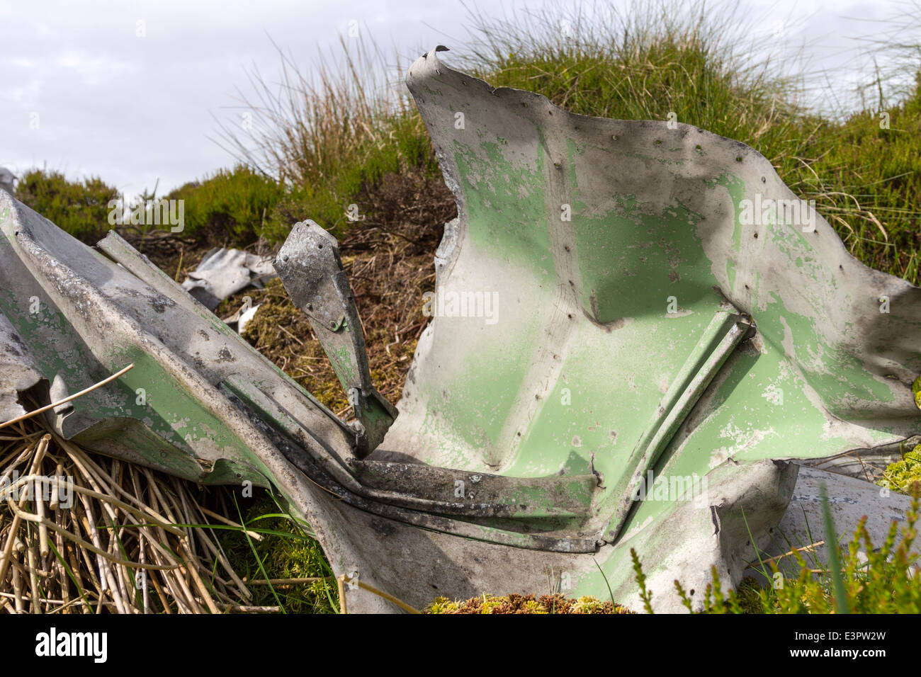 Remains of a Blenheim Mk1, L1252 Aircraft Which Crashed in Bad Weather on 26th October 1938 Lunedale, County Durham. - Stock Image