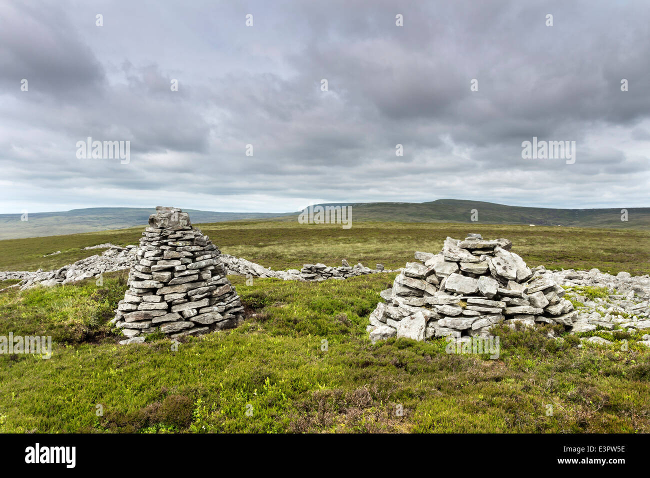 Mickle Fell from Standards Hill Lunedale County Durham England UK - Stock Image