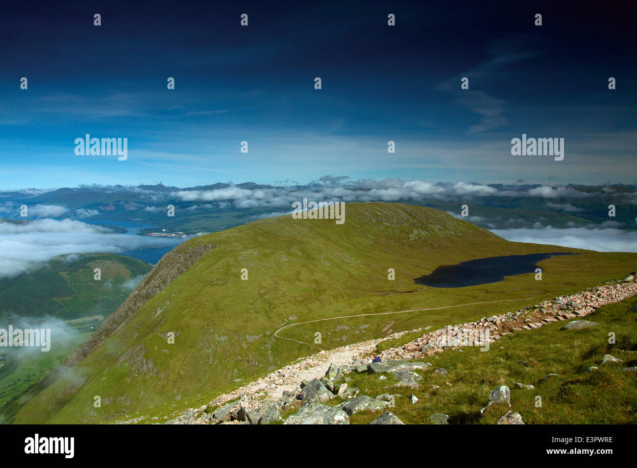 Meall an t-Suidhe, the Halfway Lochan, from Ben Nevis, Lochaber - Stock Image