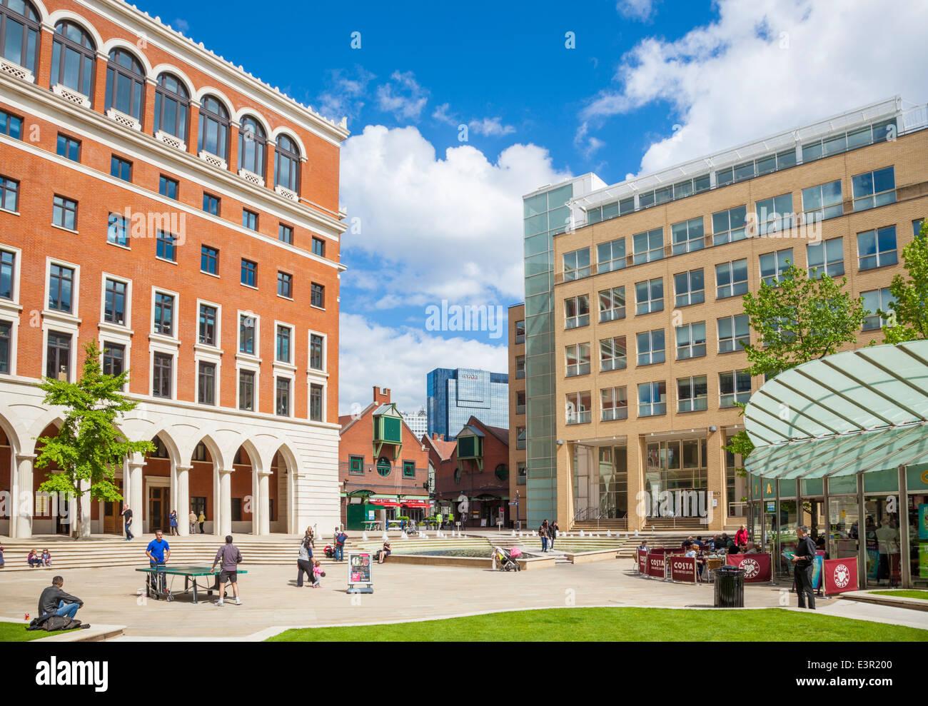 Brindley Place, Birmingham City Centre, West Midlands, England, UK, GB, EU. Europe - Stock Image
