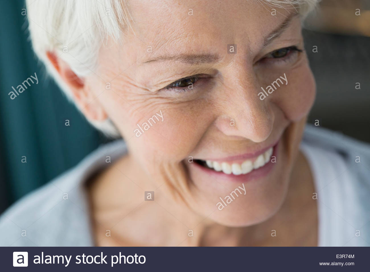 Close up of smiling woman - Stock Image