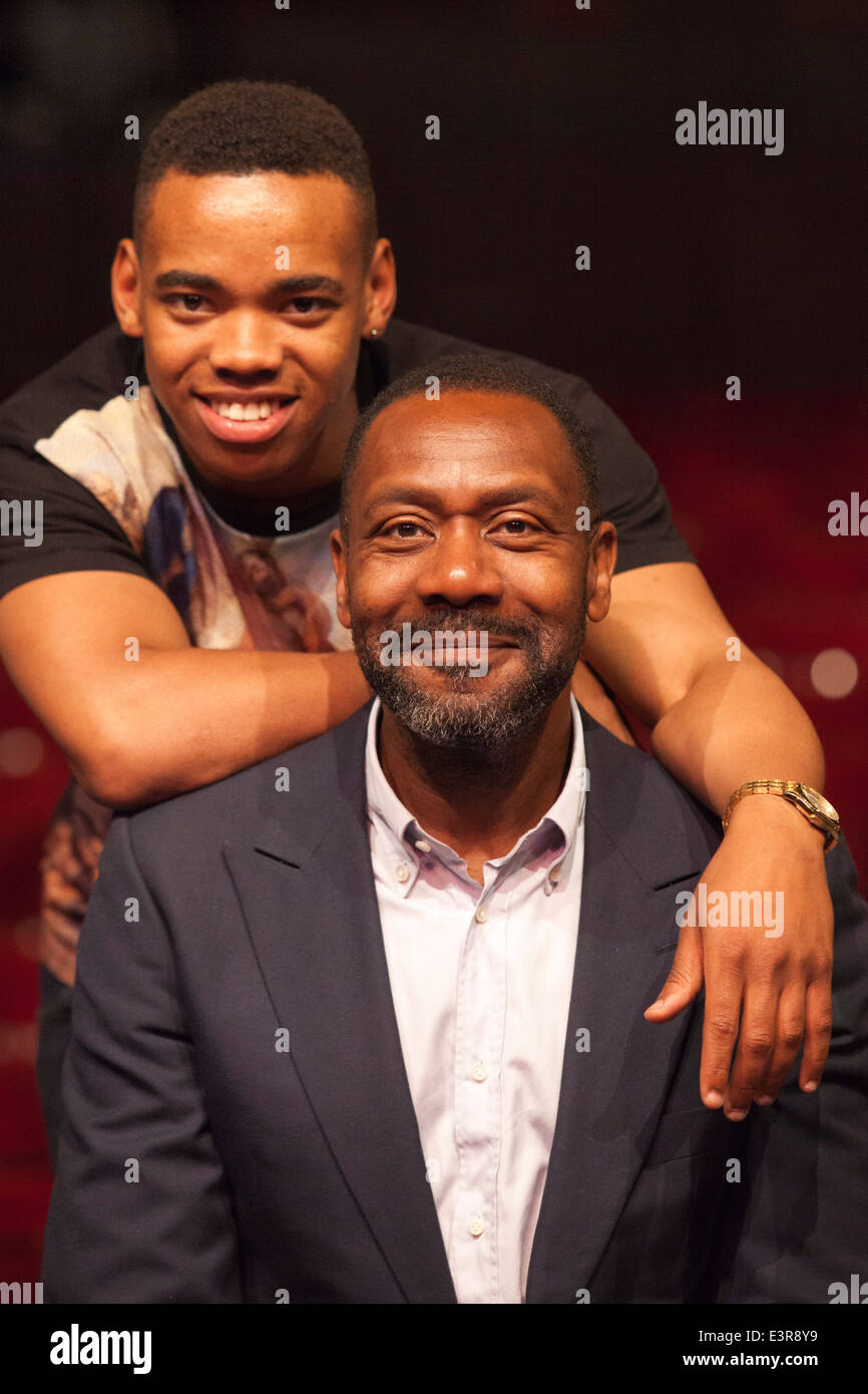 Joivan Wade With Lenny Henry Press Launch Of Rudys Rare Records Starring Lenny Henry Hackney Empire London