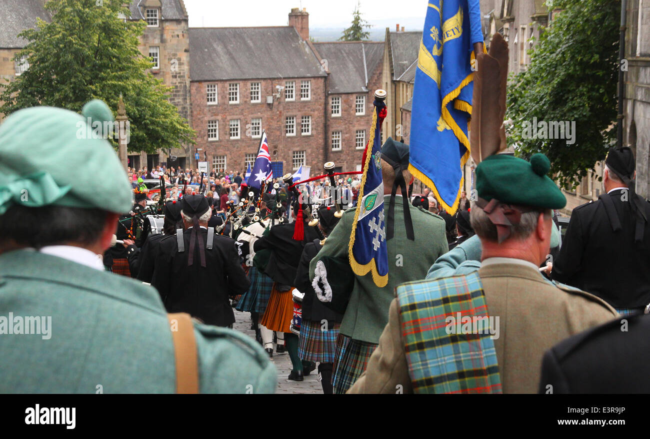 Stirling, Scotland, UK  27th June, 2014  gathering of the