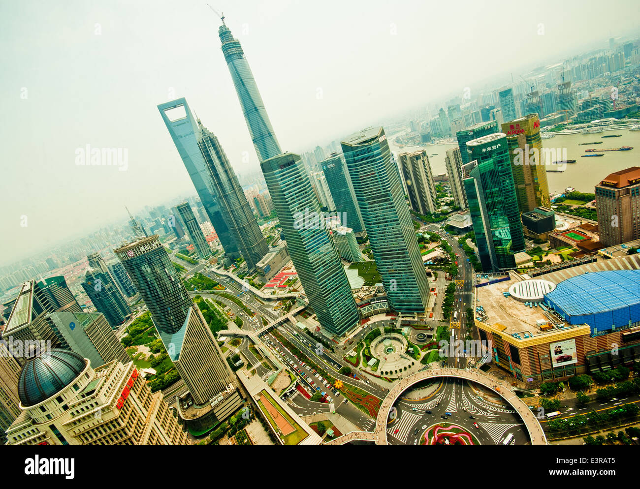 Shanghai from above. - Stock Image