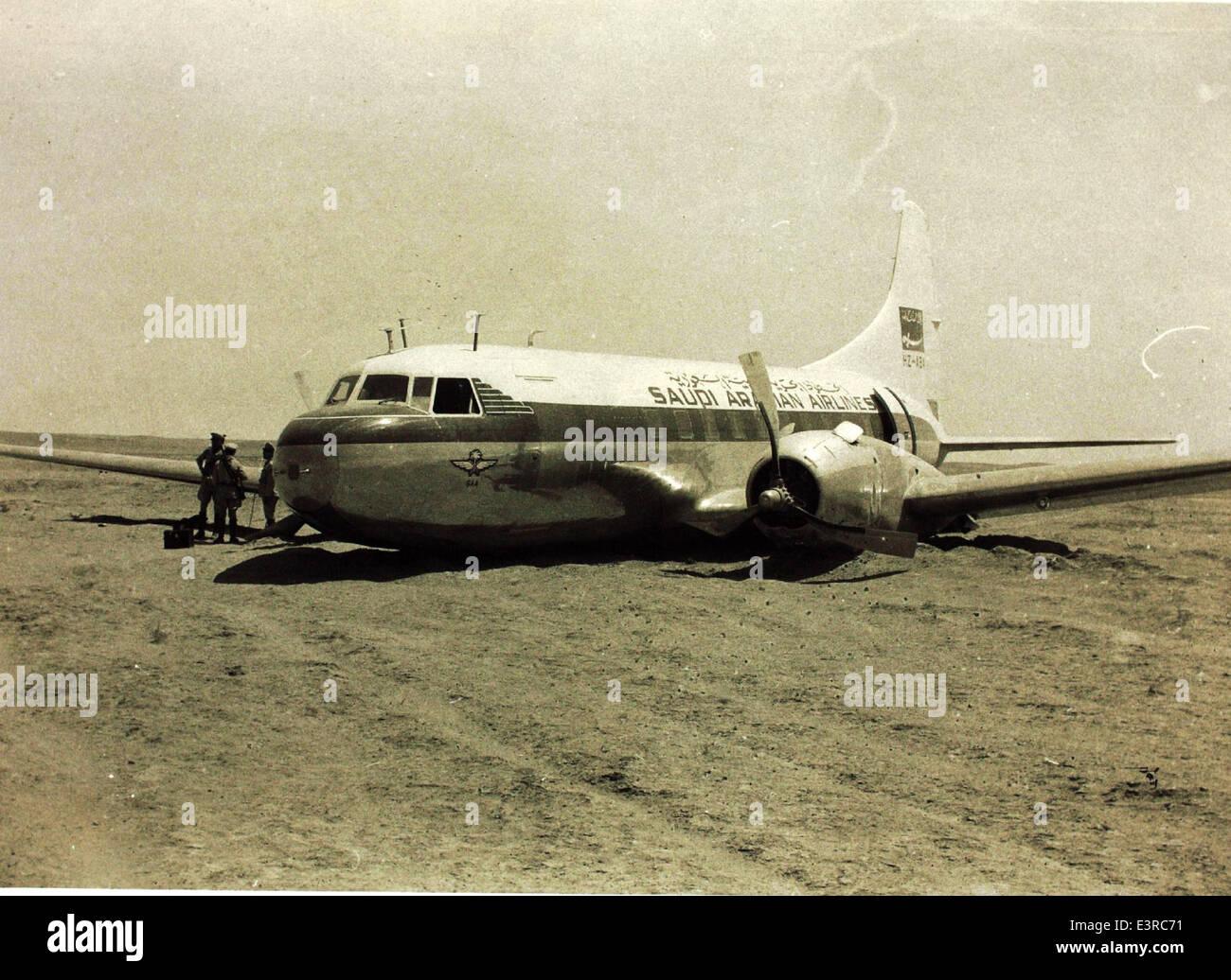 Convair 340 Crash Stock Photo