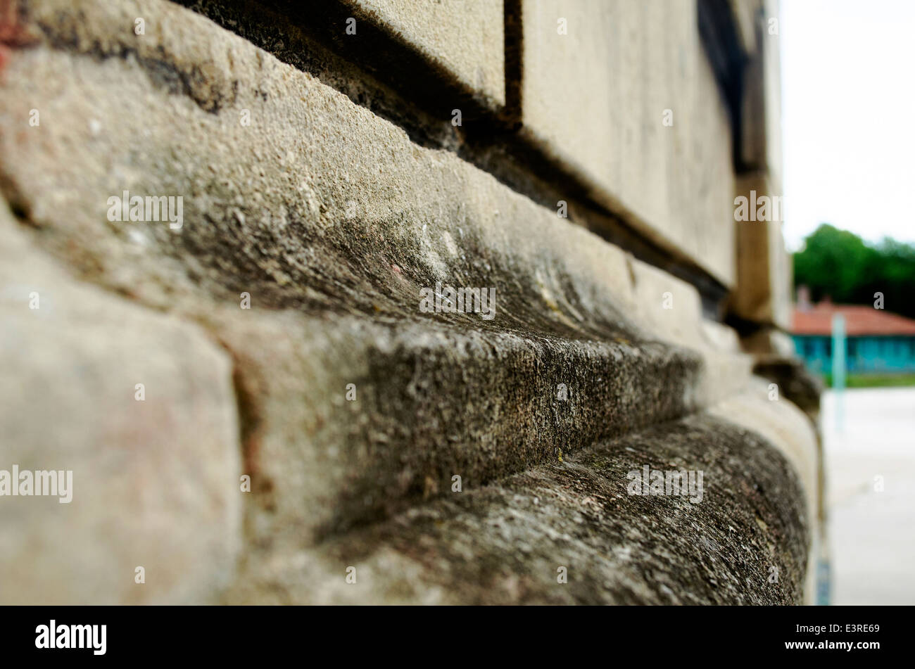 Simple wall stone texture background Stock Photo