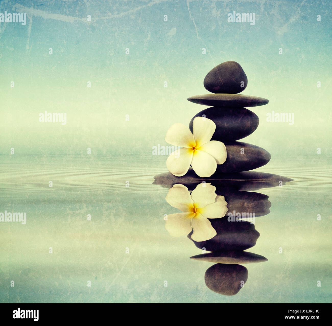 Zen Meditation Spa Relaxation Background Balanced Stones Stack With Stock Photo Alamy