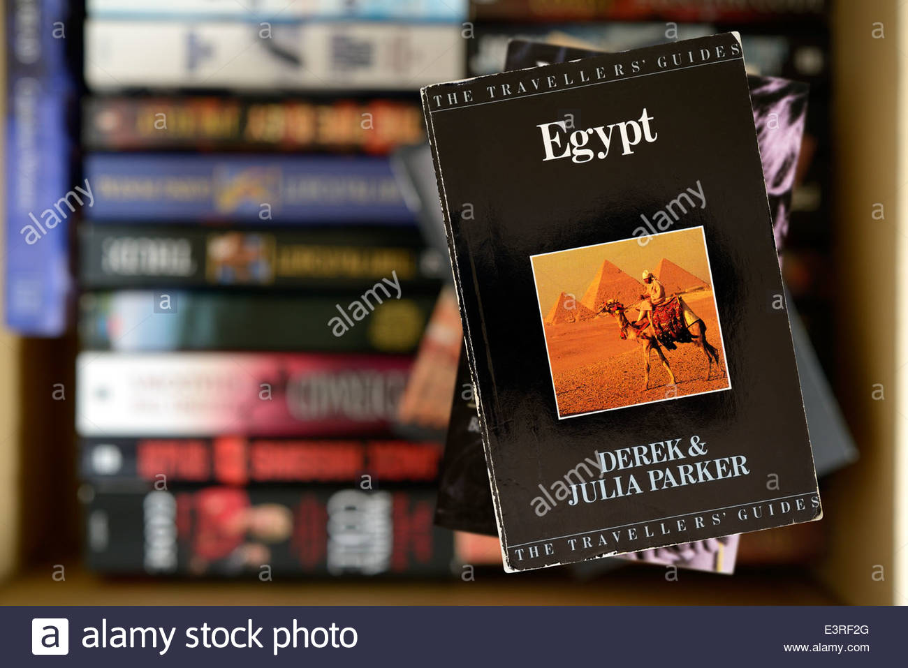 Old Travel Guide To Egypt Book Title Stacked Used Books England Stock Photo Alamy