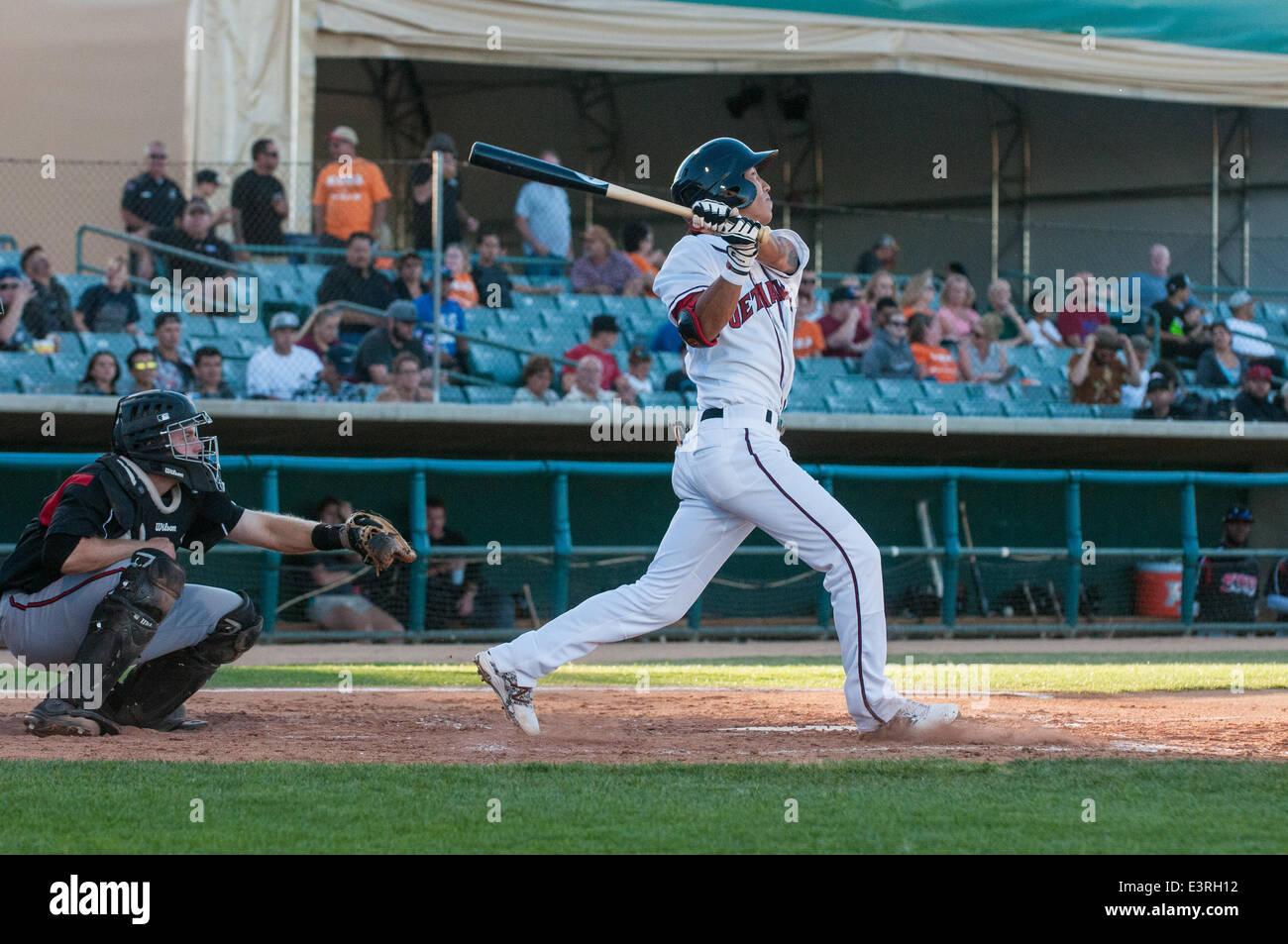 Lancaster, California, USA. 27 June 2014, Lancaster Municipal Stadium, Lancaster, CA. Houston Astros prospect ChanJong - Stock Image