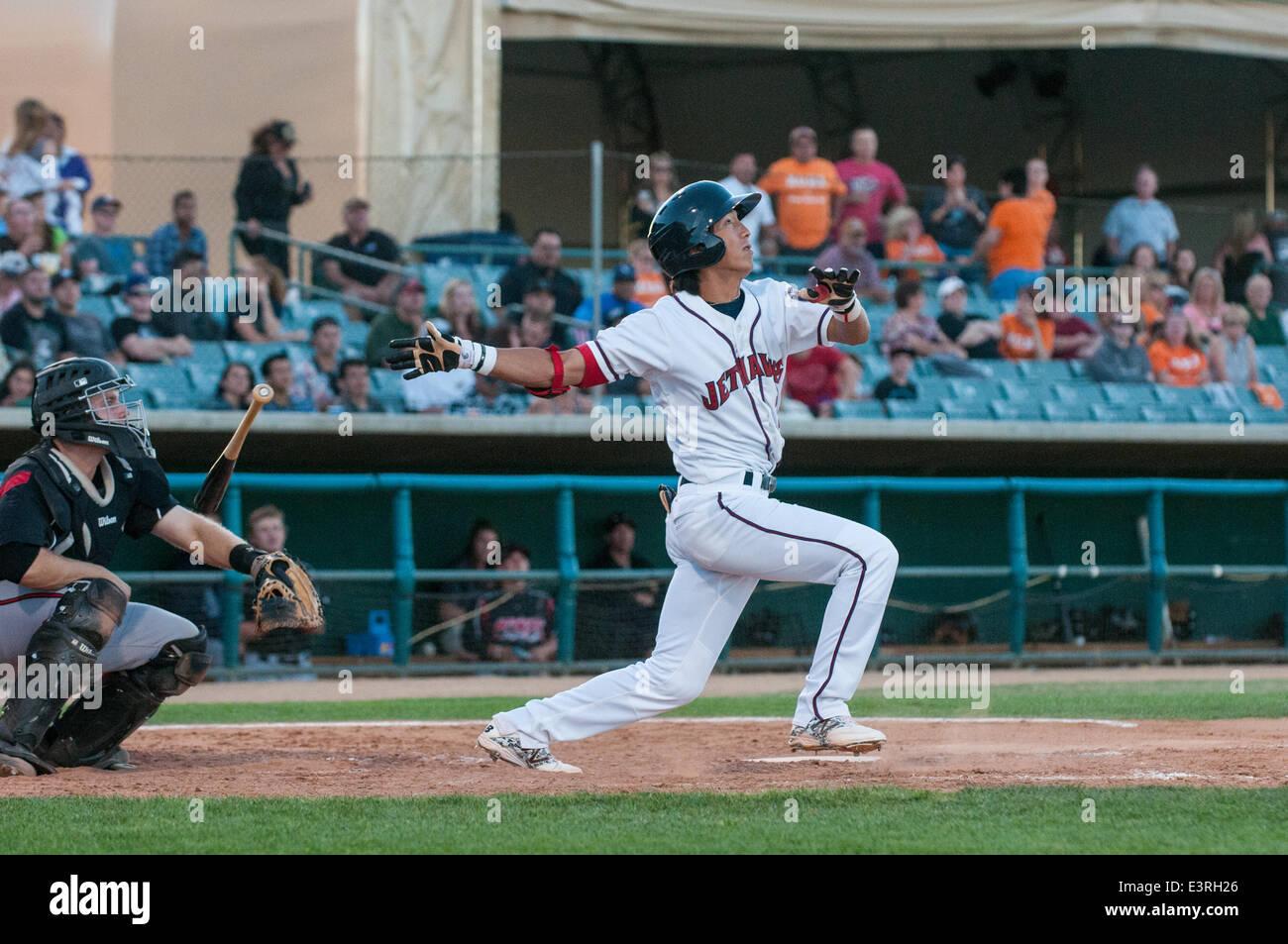 Lancaster, California, USA. 27 June 2014, Lancaster Municipal Stadium, Lancaster, CA, Houston Astros prospect Chan - Stock Image