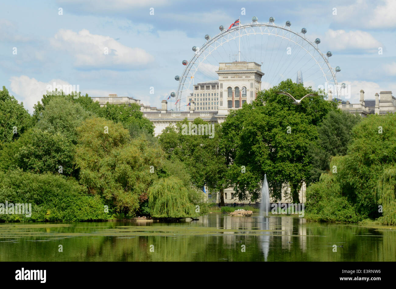 St James Park, The mall, London, UK - Stock Image