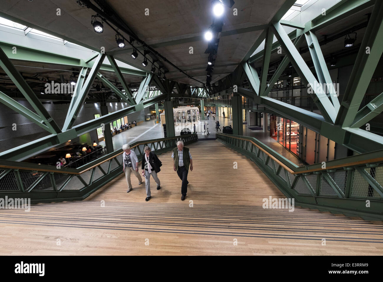 Interior of Bikini Berlin new shopping centre in Charlottenburg Berlin Germany - Stock Image